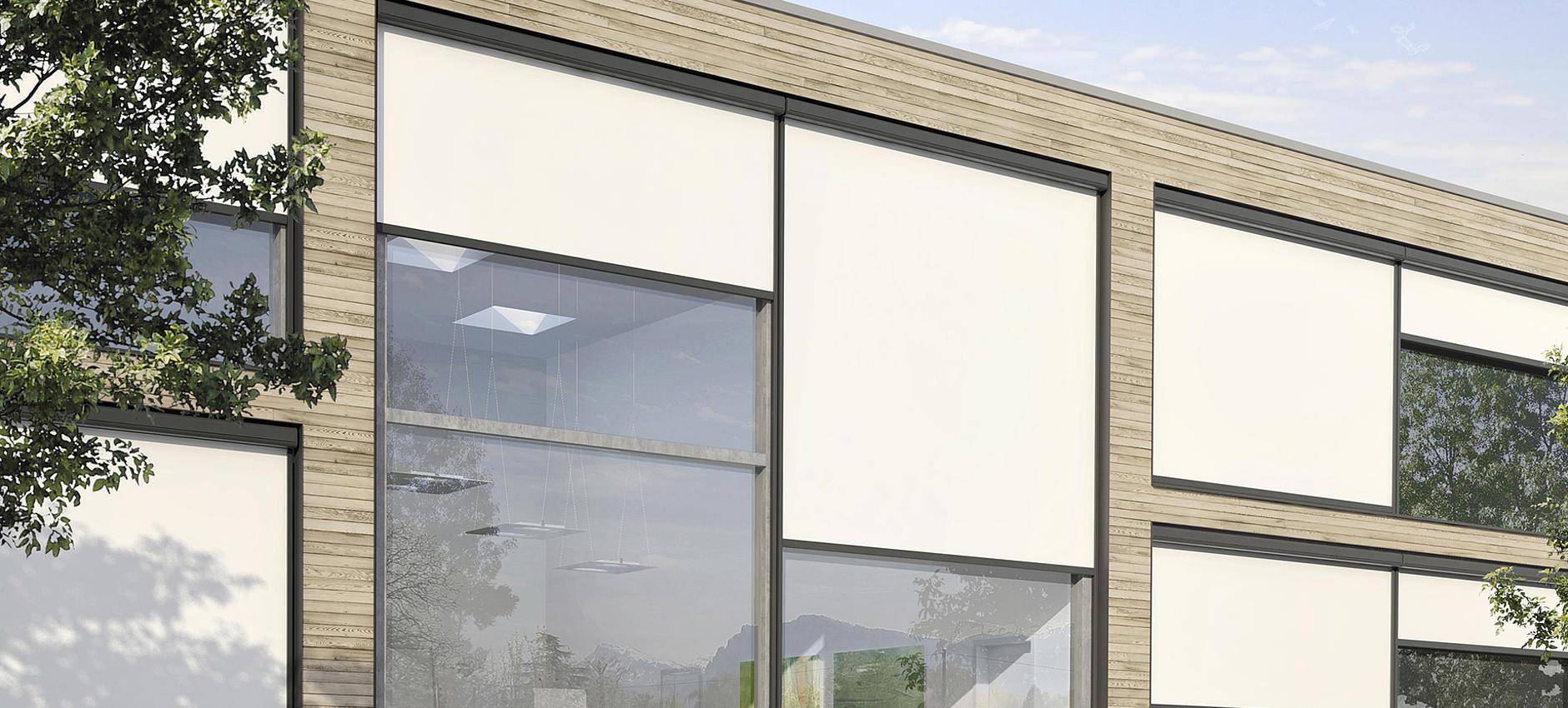 VENTOSOL VS5100 / VS5200 / VS5400 / VS5600 / VS6100 / VS6200 robuste Senkrechtmarkisen mit Reißverschlusstechnik für innen und außen