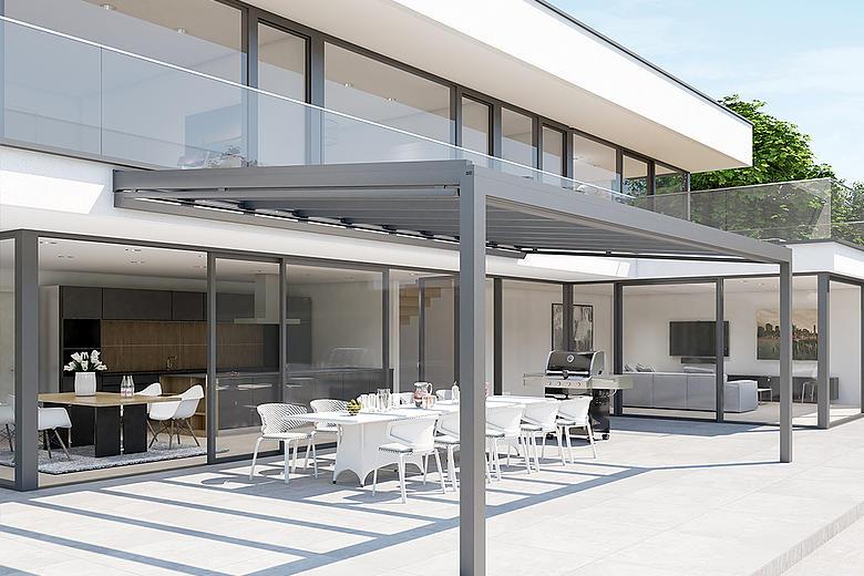 NYON GP3100 filigranes Allwetterdach mit vielseitigen Erweiterungsmöglichkeiten