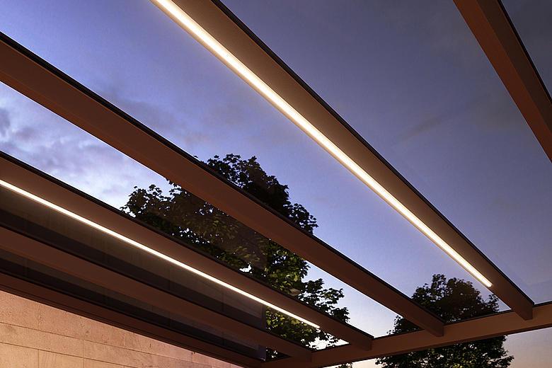 NYON PLUS GP4100 / GP4200 filigranes Allwetterdach für uneingeschränkten Terrassengenuss