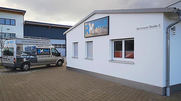Firmengelände Klaiber Fachpartner Firma Rieß Metallbau