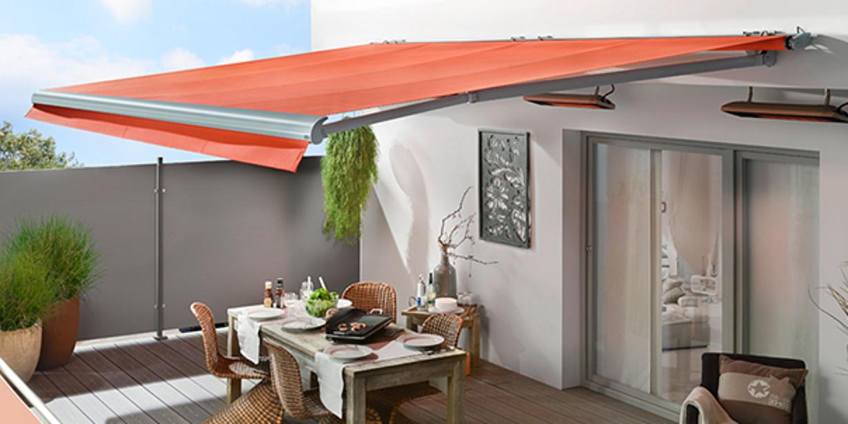 Gelenkarmmarkise für Balkon und Terrasse