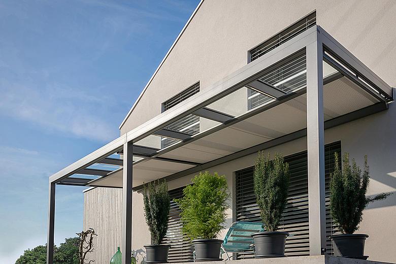 ARNEX PS2550 Unterglasmarkise und Wintergartenbeschattung als wirkungsvoller Sonnenschutz für Glasdächer