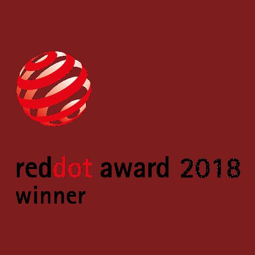 Reddot Award 2018 Auszeichnung für Glasdachsystem NYON GP3100 und Unterglasmarkise ARNEX PS2500