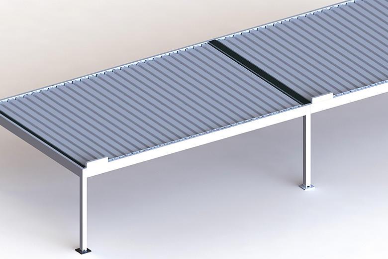 BAVONA TP6600 koppelbarer Terrassen-Pavillon mit neigbaren Aluminium-Lamellen