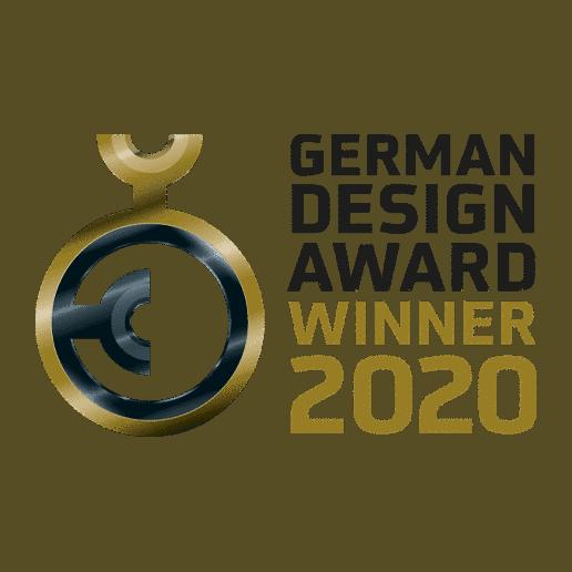 German Design Award 2020 Auszeichnung für Glasdachsystem NYON PLUS GP4100/GP4200 und Überglasmarkise ARNEX PS8000/PS8100