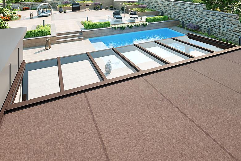 ARNEX PS8000 / PS8100 elegante Überglasbeschattung für Glasdächer und Wintergärten