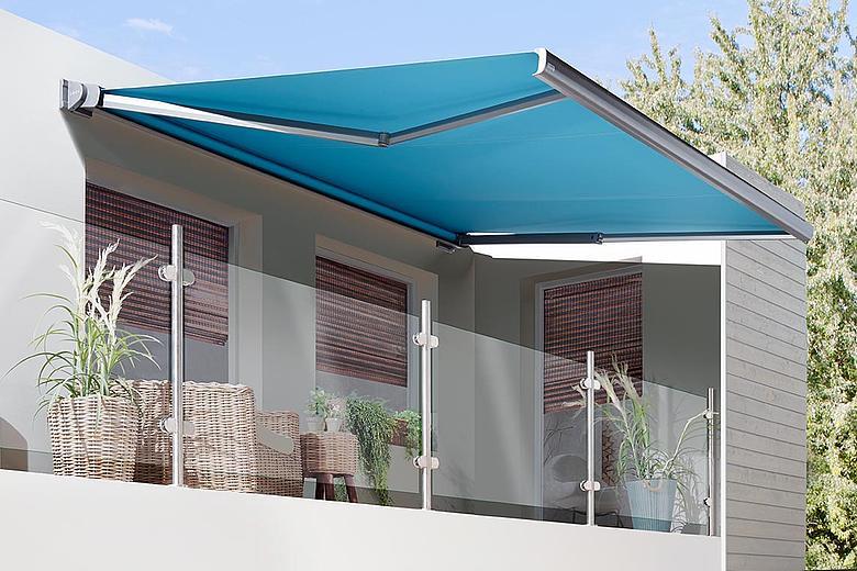 Casabox BX2000 schlanke Kassettenmarkise in elegantem Design für kleine bis mittelgroße Terrassen